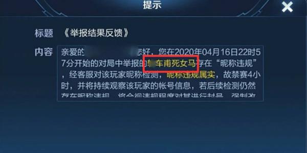 王者荣耀官方增加新功能 两类名字被制裁